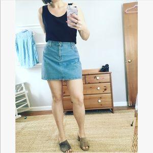 Mossimo short denim high waisted mini skirt